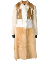 Cappotto di shearling marrone chiaro di Calvin Klein