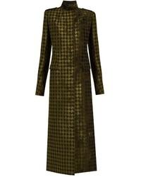 Cappotto di velluto verde oliva