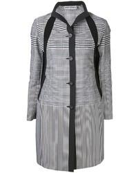 Cappotto geometrico bianco e nero