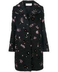 Cappotto in mohair nero di Valentino