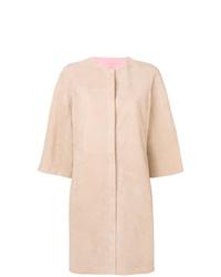 Cappotto in pelle rosa di Drome
