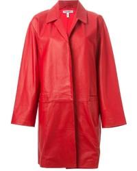 Cappotto in pelle rosso di Current/Elliott