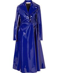 Cappotto in pelle viola di Marni