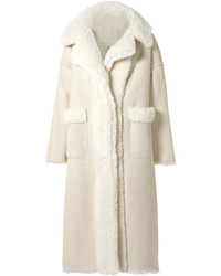 Cappotto in shearling beige