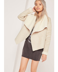 Cappotto in shearling bianco