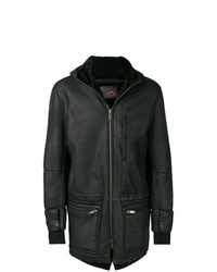 Cappotto in shearling nero