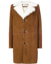 Cappotto in shearling terracotta