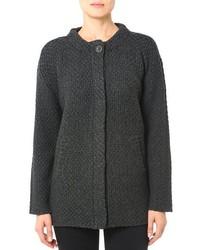 Cappotto lavorato a maglia grigio scuro