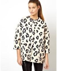 Cappotto leopardato bianco e nero di H O U S E Of H A C K N E Y