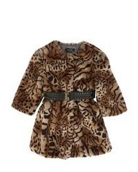 Cappotto leopardato marrone chiaro
