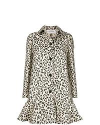 Cappotto leopardato marrone chiaro di Valentino