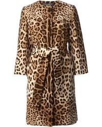 Cappotto leopardato marrone