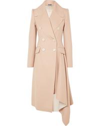 Cappotto marrone chiaro di Alexander McQueen
