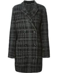 Cappotto scozzese nero