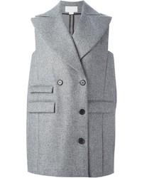 Cappotto senza maniche grigio di Antonio Berardi