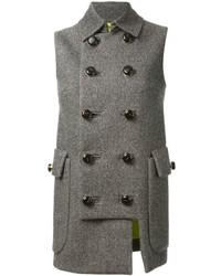 Cappotto senza maniche grigio di DSquared