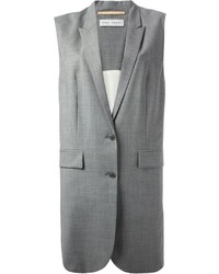 Cappotto senza maniche grigio di Veronique Branquinho