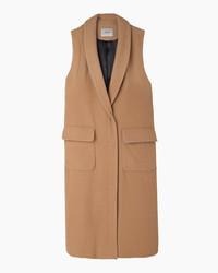 Cappotto senza maniche marrone chiaro