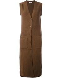 Cappotto senza maniche marrone