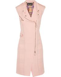 Cappotto senza maniche rosa