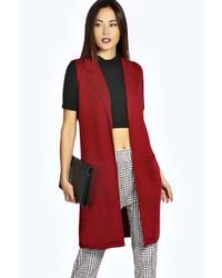Cappotto senza maniche rosso