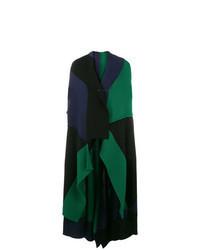 Cappotto senza maniche verde scuro