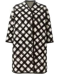 Cappotto stampato bianco e nero di Antonio Marras