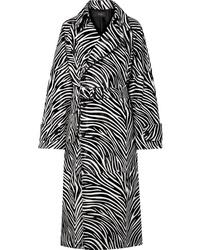 Cappotto stampato nero e bianco