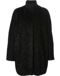 Cappotto testurizzato nero