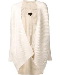 Cardigan aperto lavorato a maglia bianco di Nili Lotan
