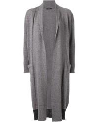 Cardigan aperto pesante grigio