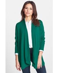 Cardigan aperto verde scuro