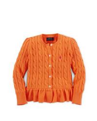 Cardigan arancione