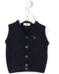 Cardigan blu scuro di Armani Junior