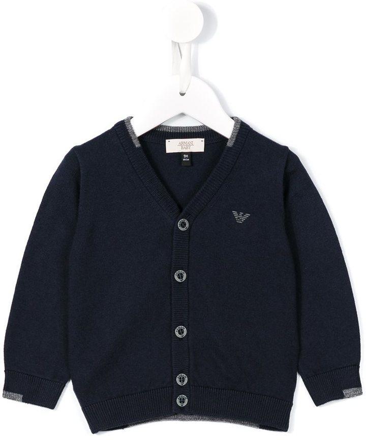 Cardigan blu scuro di Armani Junior