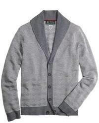 Cardigan con collo a scialle grigio