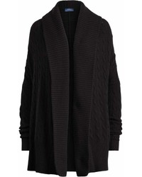 Cardigan con collo a scialle nero