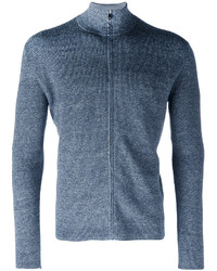 Cardigan con zip blu