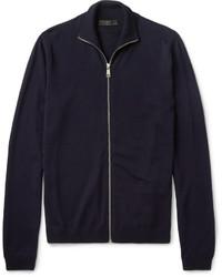 Cardigan con zip blu scuro