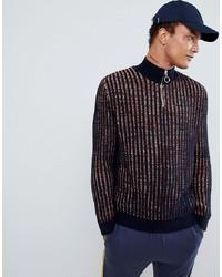 Cardigan con zip blu scuro di ASOS DESIGN