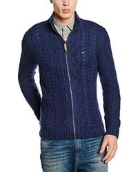 Cardigan con zip blu scuro di Hilfiger Denim