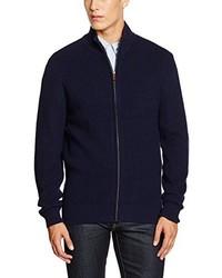 Cardigan con zip blu scuro di Thomas Pink