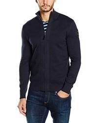 Cardigan con zip blu scuro di Tom Tailor