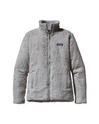 Cardigan con zip di pile grigio