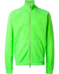 Cardigan con zip lime