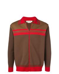 Cardigan con zip marrone di Marni
