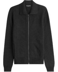 Cardigan con zip nero