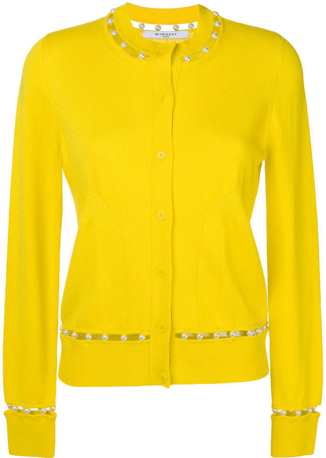 hot sale online a854c 011d1 €839, Cardigan giallo di Givenchy