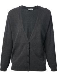 Cardigan grigio scuro di Brunello Cucinelli