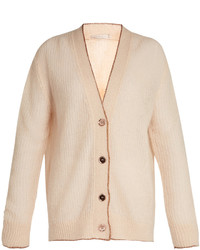 Cardigan in mohair beige